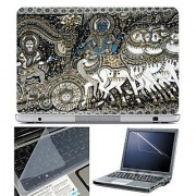 FineArts Laptop Skin 15.6 Inch With Key Guard & Screen Protector - Arjun Krishna Art