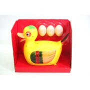 BATTERY OPERATED DUCK LAY AN EGG FOR KIDS / CHILDREN - BUMP AND UP