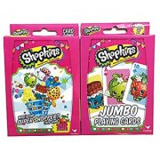 Hasbro Shopkins Card Games Bundle With 1 Top Trumps Who's the Super Shopper Card Game Set and 1 Jumbo Playing Cards Set 2 Items