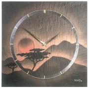 AMS 9515 Wandklok Leisteen met Airbrush