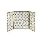 Noble House Hartly Modern Gold Three Panel Iron Fire Screen
