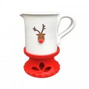 Masszázsolaj melegítő: Rudolf, fehér - piros