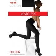 Marilyn - Varma strumpbyxor med bomull Polar 200 DEN nero M/L