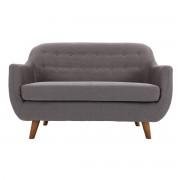 Sofá diseño 2 plazas gris antracita YNOK - Miliboo