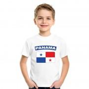 Bellatio Decorations T-shirt Panamese vlag wit kinderen XL (158-164) - Feestshirts