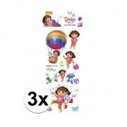 Dora 3x Poezie album pop-up stickers Dora