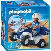 Playmobil Les Policiers 3655 - Policier Et Quad