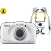Nikon Cámara Compacta NIKON Coolpix W100 (Blanco - 13.2 MP - ISO: 125 a 1600 - Zoom Óptico: 3x)