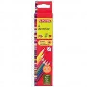 Creioane colorate triunghiulare 6 culori/set HERLITZ