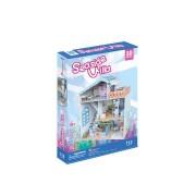 CubicFun Colectia Casuta papusilor Vila de la mare Puzzle 3D 112 piese