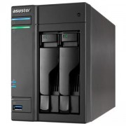 Мрежов сторидж Asustor AS6302T, 2-Bay NAS, Intel Apollo Lake Dual-Core, 2 GB SO-DIMM DDR3L, GbE x 2, USB 3.0 x 4 (Type A x3, Type C x1), WOW, AS6302T