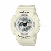 casio baby-g BA-110PP-7A 100m reloj digital analogico impermeable para mujer reloj deportivo con correa de resina-blanco