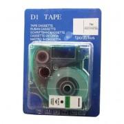 Lettertape Dymo D1: 45019 12mm Zwart-Groen Huismerk