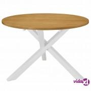 vidaXL Blagovaonski stol bijeli 120 x 75 cm MDF