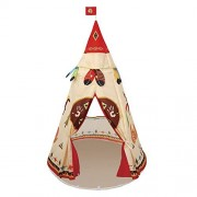 ChezMax Kids Tent Teepee Play Tents Children Game House Play house for Indoor and Outdoor Play Fun, Beige cartoon print by ChezMax Outdoor