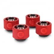Pachet 4 bucati fitinguri compresie EK Water Blocks EK-ACF 16/10mm Red