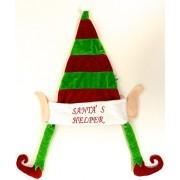 Christmas Santa Hat with Elf Legs - Santas Helper