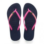 Havaianas Slim Brasil Logo teenslippers roze/blauw