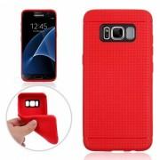 Nido de abeja patron de proteccion TPU caso trasero para Samsung Galaxy S8 - rojo
