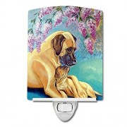 Caroline's Treasures Great Dane and Puppy Luz Nocturna de cerámica, 6 x 4 Pulgadas, Multicolor