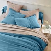 Blancheporte Linge de lit uni lin lavé BLANC Housse de couette 2 pers : 240x220cm
