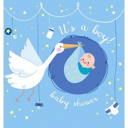 It's a Boy! Baby Shower Guest Book: Baby Boy and Stork, Sign in book Advice for Parents Wishes for a Baby Bonus Gift Log Keepsake Pages, Place for a P, Hardcover/Luis Lukesun