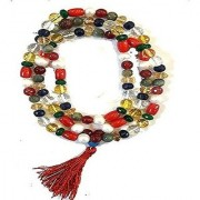 Original Natural Navaratna Mala Certified Nav Mix Stone Mala Jaipur Gemstone