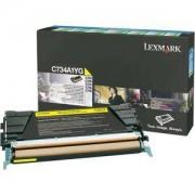 Тонер касета за Lexmark C734/C736,/X734,/X736,/X738 Yellow Toner Cartridge for 6 000 page - C734A1YG