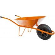 HTI Stavební kolečko 60l s nafukovací pneumatikou oranžové KS08