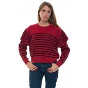 Red Valentino Maglia in lana Rosso/nero Lana Donna