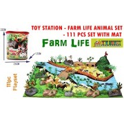TOY-STATION - Exclusive Animal Play Sets (Farm Life Animals Play Set- 111 PCS with Play MAT)