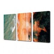 Tablou Canvas Premium Peisaj Multicolor Nisip portocaliu pe plaja in Australia Decoratiuni Moderne pentru Casa 3 x 70 x 100 cm