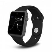 Ceas smartwatch DM09 BT 4.0, voice interaction, cartela SIM, 1,54 HD touchscreen, notificari, anti-lost, g-senzor, pedometru, negru