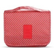 Shree Shyam Products Multi Functional Travel Organizer Accessory Toiletry Cosmetics Bag Makeup Or Shaving Kit Pouch for Men & Women Set Of 1 Pcs Travel Toiletry Kit(Red)