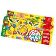 Set plastilina,8 culori si 12 accesorii/set,SES