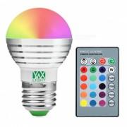 Lamparas de la lampara LED del ywxlight E27 5W RGB (2 PC) con el regulador alejado del IR