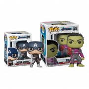 Hulk con guante y Capitan america Funko pop Avengers end-game