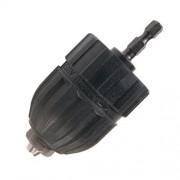 Hitachi 725405 Portabrocas de conversión sin llave de 3/8 pulgadas para controladores de impacto hexagonal de 1/4 pulgadas