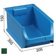 Allit Kunststoffboxen plus 4, 205 x 355 x 150 mm, grün, 12 stk.