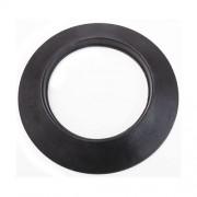 MBM Rosone nero in silicone DN 130 mm d. esterno 210 mm. canna fumaria pellet