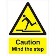 Unbranded Sign Caution Mind Mind The Step PVC 15 x 20 cm