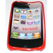 Силиконов гръб ТПУ за Apple iPhone 3G/3GS Червен