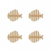 Poháralátét, hal (4 db/szett)