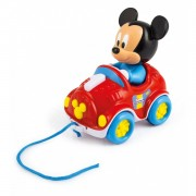 Disney Clementoni Mickey 10 Meses 21x19 Coche De Arrastre Multicolor única