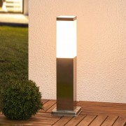Lampenwelt.com Luminaire pour socle Lorian en inox - LAMPENWELT.com