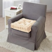 Velour Armchair Booster Cushion Cream by Coopers of Stortford