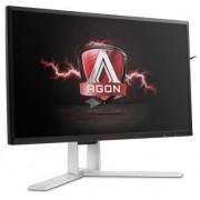 "Monitor Gaming TN LED AOC AGON 23.8"" AG241QX, WQHD (2560 x 1440), VGA, DVI, HDMI, DisplayPort, 1 ms, 144 Hz, Pivot, Boxe (Negru-Argintiu)"