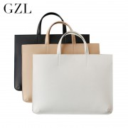 GZL PU leather women men handbags business briefcase notebook laptop bag casual totes female large capacity shoulder bags HB0006