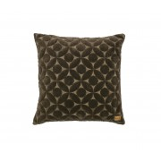 BePureHome Snuggle Round kussen 50x50 cm fluweel donker taupe