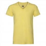 Russell Geel heren t-shirts met V-hals